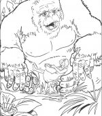 coloriage king Kong 008